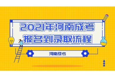 2021年河南成考报名到录取流程